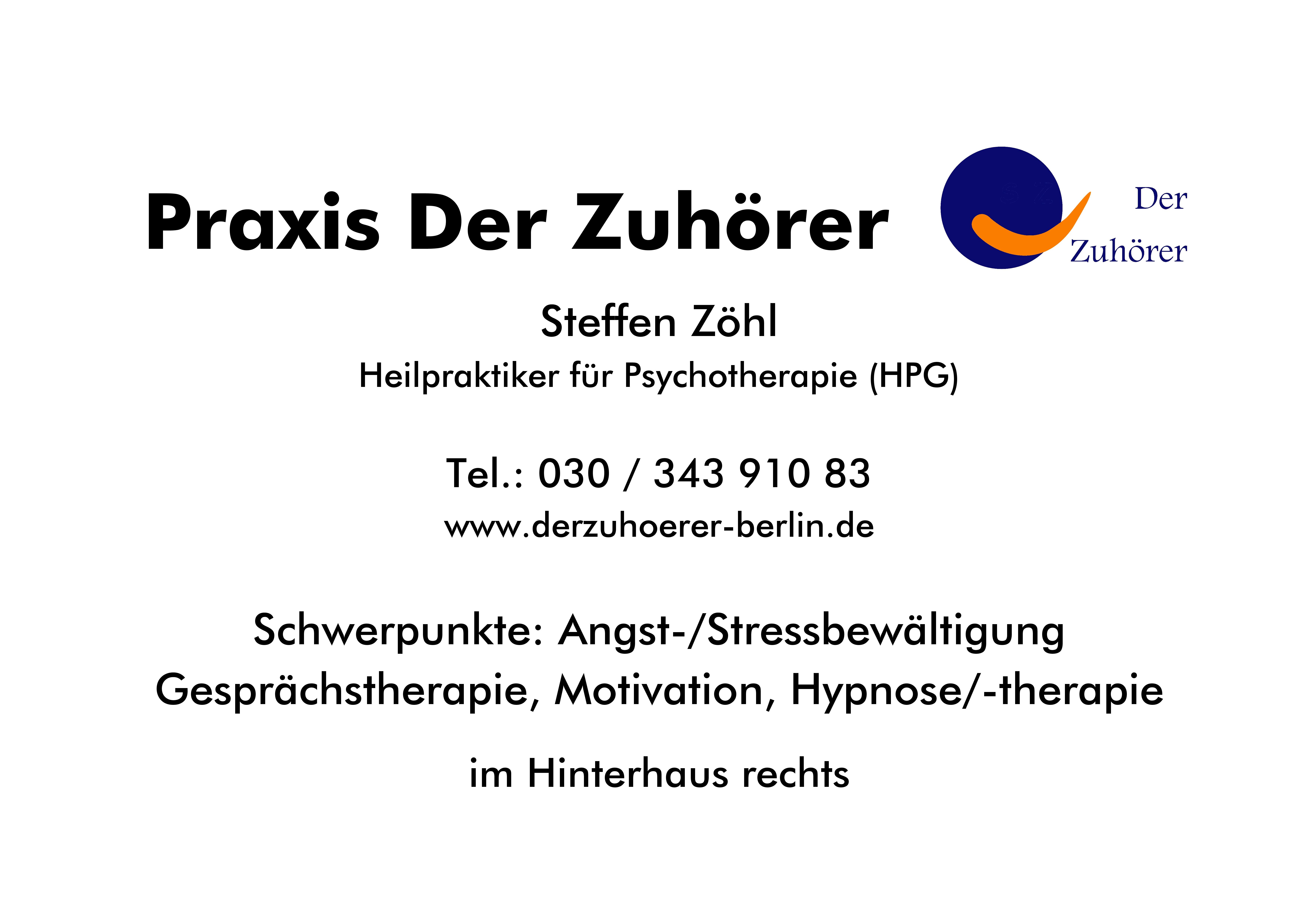 Hypnose Angst Phobie Stress Wundtstr. 5 14059 Berlin Charlottenburg