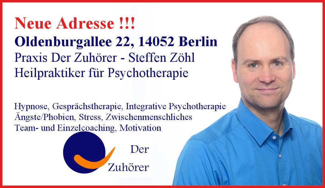 Heilpraktiker für Psychotherapie Hypnose Berlin Angst © Praxis Der Zuhörer - Steffen Zöhl, 2017