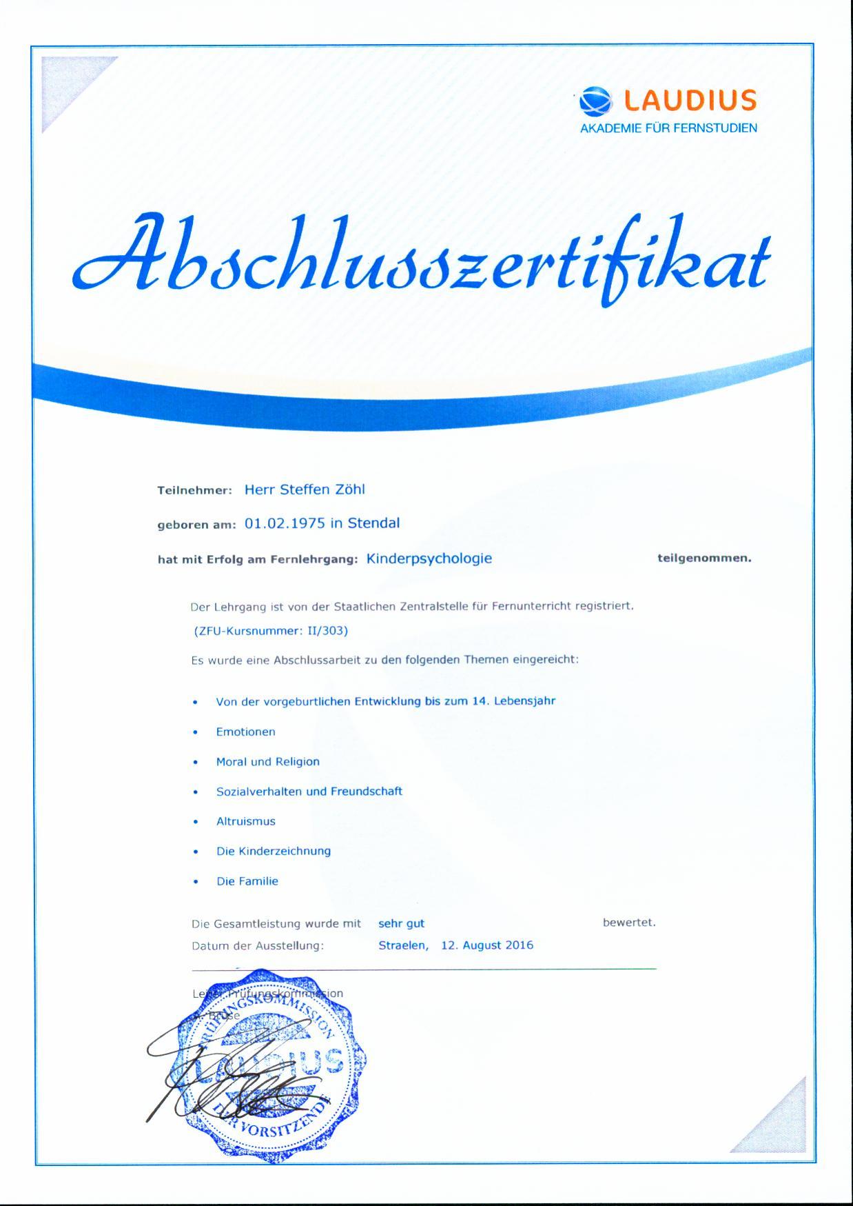 Fantastic Zertifikat Wording Photo - FORTSETZUNG ARBEITSBLATT ...