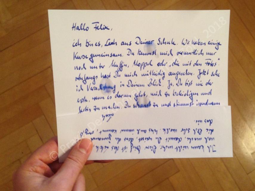 Mein Brief an Dich - SinnSationsGeschichten Mobbing © Praxis Der Zuhörer - Steffen Zöhl, 2018