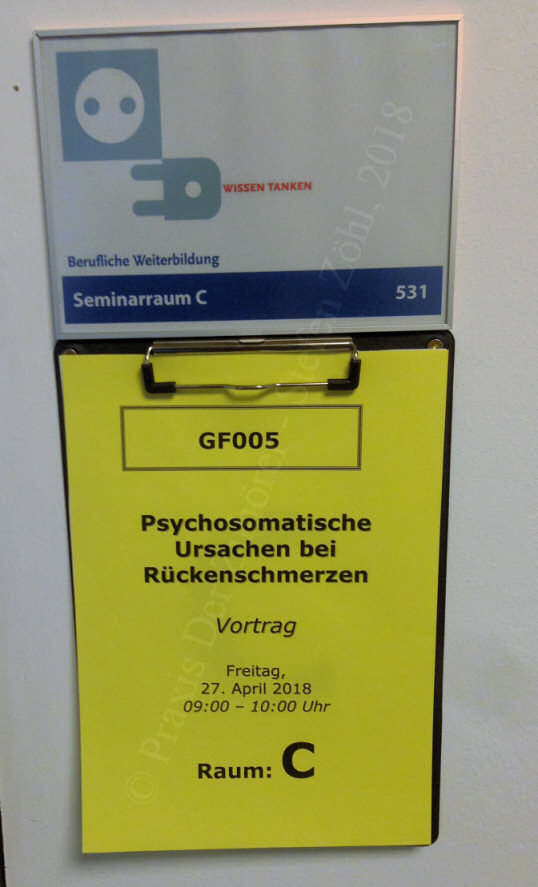 Vortrag Rückenschmerzen in der Humboldt-Universität zu Berlin