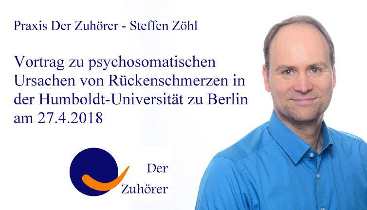 Vortrag Rückenschmerzen an der HU Humboldt-Universität zu Berlin