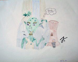 Zeichnung Jamiro zu Das Aber-Männchen aus Herzgeschichten für kleine Glücksmomente